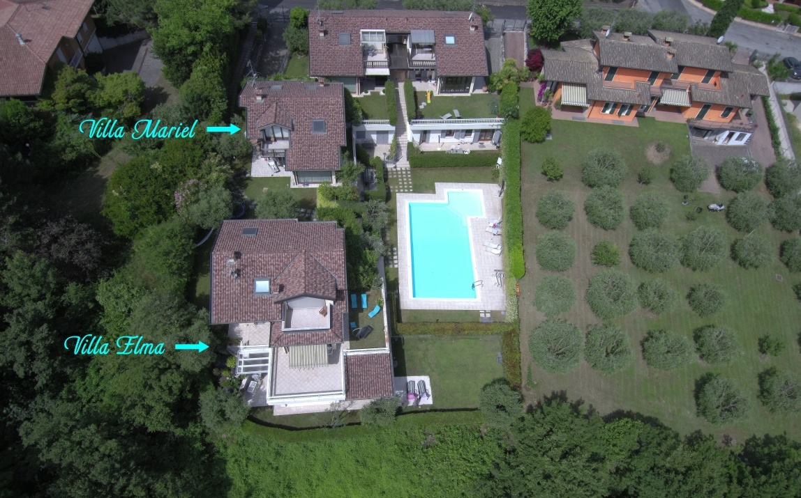 Aerial photo villas Garda Lake