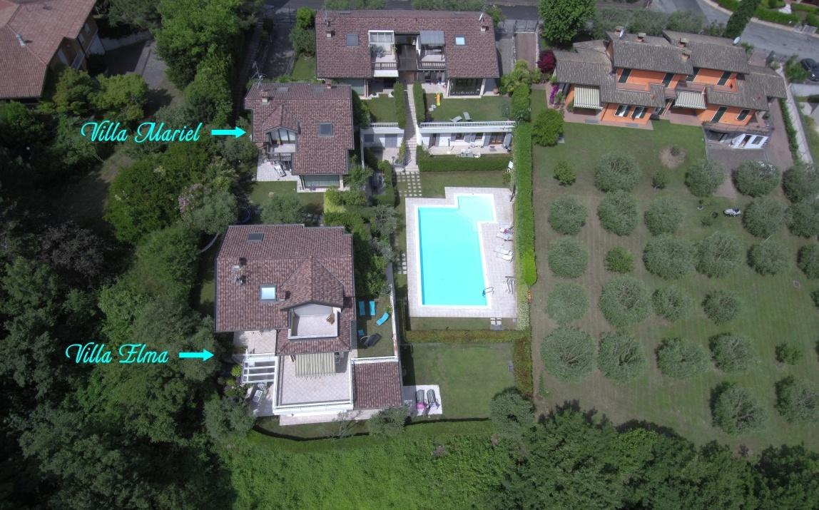 Foto aerea ville affitto lago di Garda